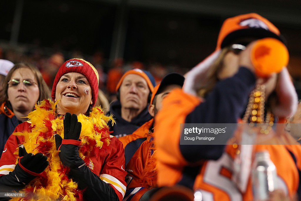 Denver Broncos fans look on during their game against the Kansas City Chiefs at Sports Authority Field at Mile High on November 17, 2013 in Denver, Colorado.