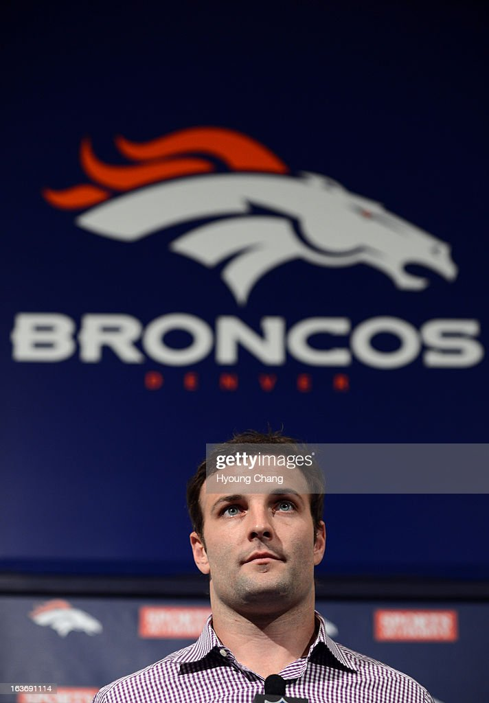 Denver Broncos introduced Wes Welker at Dove Valley. March 14, 2013. Denver, Colorado. Pro Bowl receiver Welker agreed to a two-year, $12 million deal with Broncos.