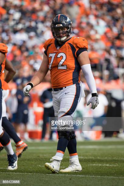 Denver Broncos offensive tackle Garett Bolles during a game between the Denver Broncos and the Dallas Cowboys on September 17 at Sports Authority...