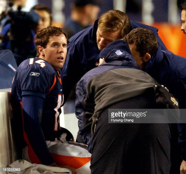 Denver Broncos QB Brian Griese Is Looked At On The