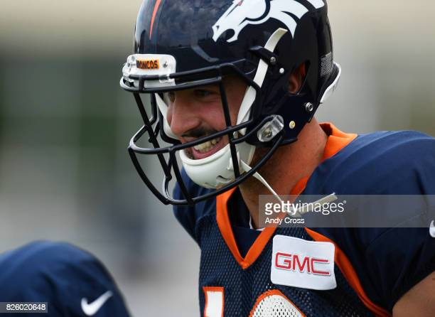 Denver Broncos quarterback Paxton Lynch at Dove Valley August 03 2017