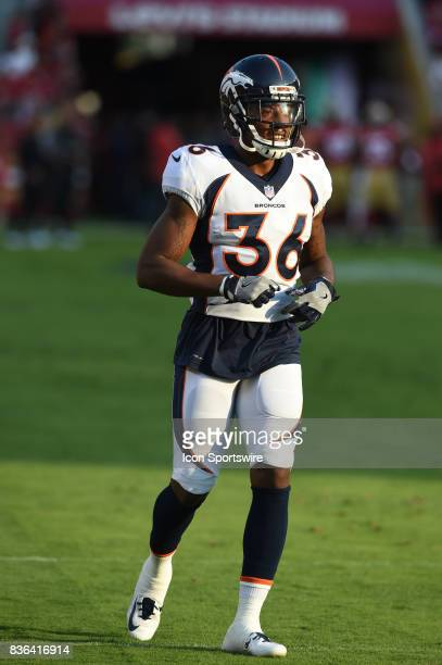 Denver Broncos Safety Orion Stewart during pregame warmups prior to an NFL preseason game between the Denver Broncos and the San Francisco 49ers on...