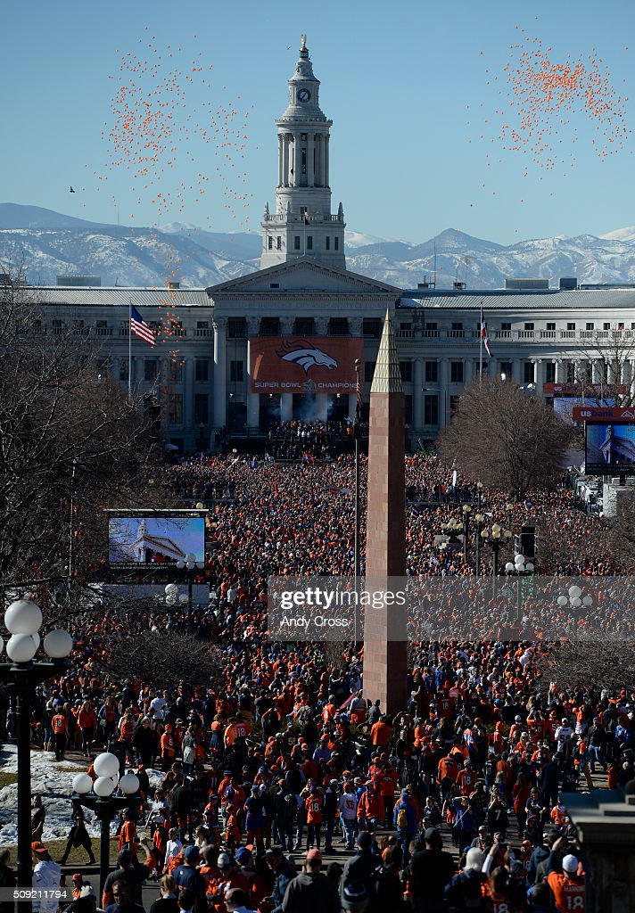 Denver Broncos Super Bowl 50 celebration at Civic Center Park February 07, 2016.