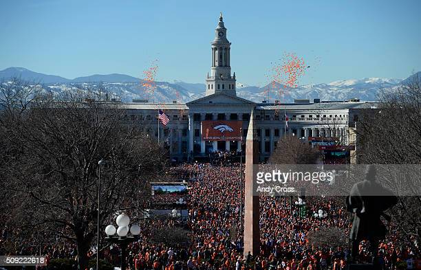 Denver Broncos Super Bowl 50 celebration at Civic Center Park February 07 2016