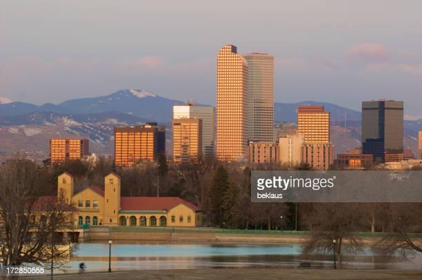 Denver City Park w Cyclist