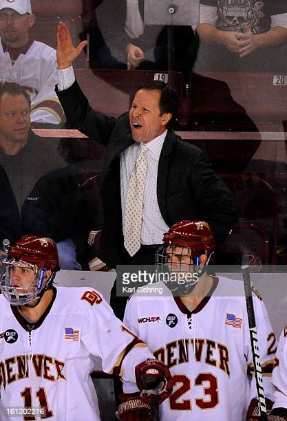 Denver coach George Gwozdecky had a word for the officials in the third period The University of Denver men's hockey team fell to St Cloud State 32...
