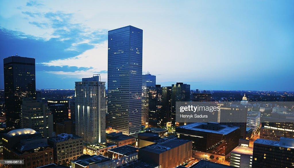 Denver, Colorado, Denver, Colorado before sunrise.