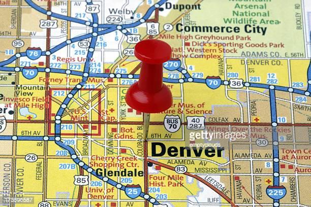 Denver, Colorado on a map.