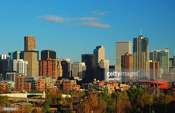 Denver Downtown skyline at the late afternoon