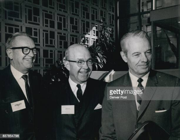 Denver Executives Present Views at Forum on outlook for Economy in 1969 From left GB Aydelott president of Denver Rio of First national Bank of...
