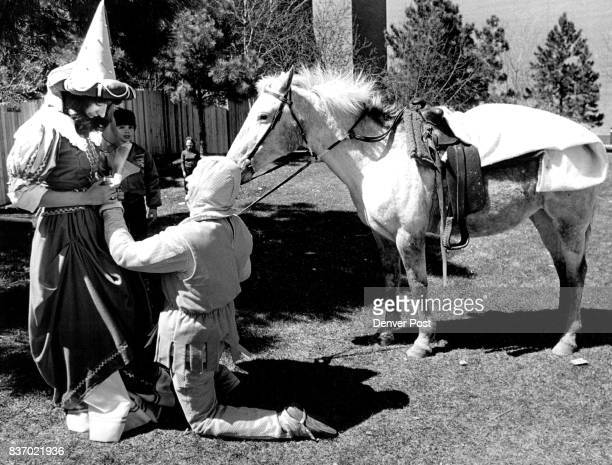 Denver General Hospital Rich Risser proposed to Elaine Kartman she said yes Rich riding a white horse and wearing suit of armor Credit The Denver Post