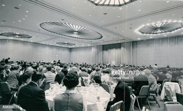 Denver Hilton Ballroom has New Look For Baptist Convention A luncheon group at the American Baptist national convention in Denver is treated to new...