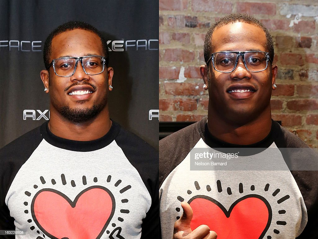 Denver linebacker Von Miller trades in his signature goatee look for a clean shave at the AXE Facescore event on March 5, 2013 in New York City.