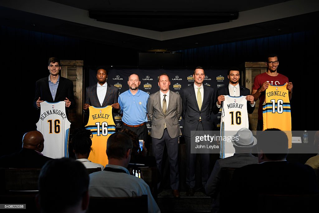 Denver Nuggets introduce their top draft picks during an introductory news conference June 29, 2016 at Pepsi Center.