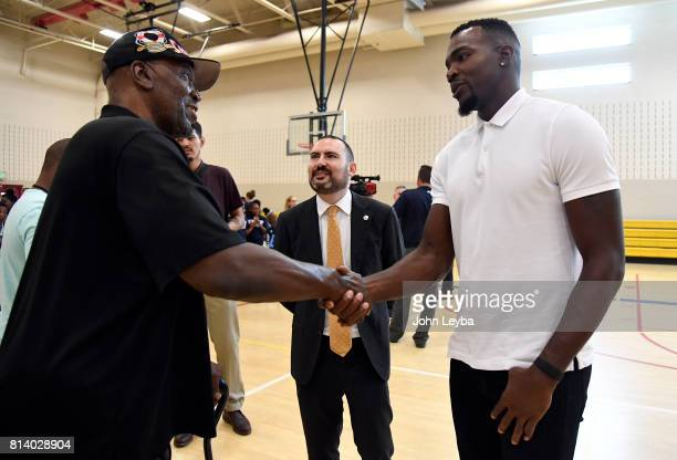 Denver Nuggets officially announced the signing of Paul Millsap on July 13 2017 at a press conference at the Montbello Rec Center After the press...