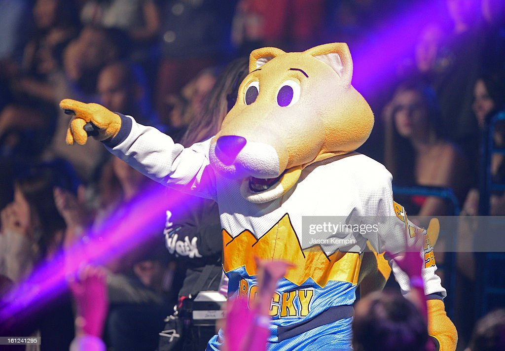 Denver Nuggets/NBA mascot Rocky onstage at the Third Annual Hall of Game Awards hosted by Cartoon Network at Barker Hangar on February 9, 2013 in Santa Monica, California. 23270_003_JK_0806.JPG