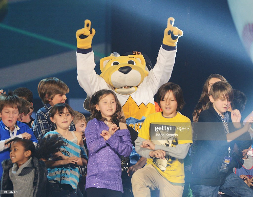 Denver Nuggets/NBA mascot Rocky stands onstage at the Third Annual Hall of Game Awards hosted by Cartoon Network at Barker Hangar on February 9, 2013 in Santa Monica, California. 23270_003_JK_0912.JPG