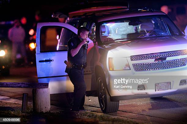 Denver Police investigated a shooting that occurred at Red Rocks Amphitheater Thursday night June 19 2014 Three parties in a Chevrolet Suburban...