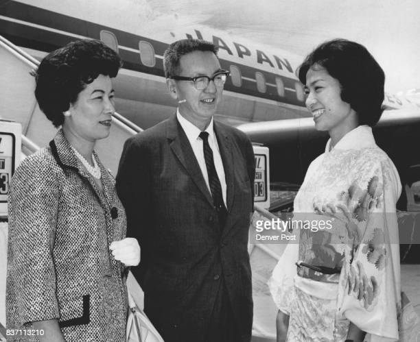 Denver Post Editor Tours Far East Bill Hosokawa associate editor of the Denver Post and his wife Alice prepare to board a Japan Air Lines jet at San...