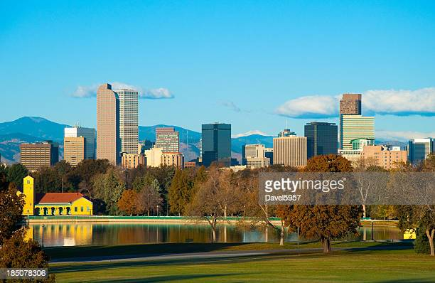 Denver skyline and park