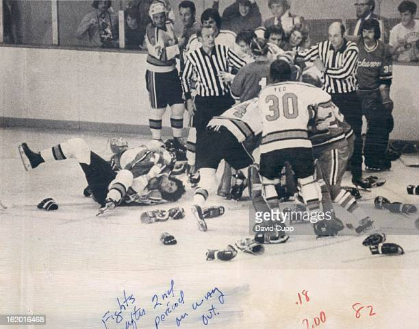 OCT 19 1973 OCT 20 1973 Denver Spurs First you Throw all the Gloves in a Pile and Mix 'EM Up Hockey fans got a bonus at the end of the second period...