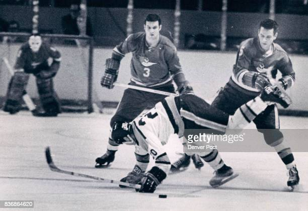 55 left in 2nd Pried Spur DeIced by Naughty Roadrunner in Second Period Denver's Wilf Martin takes nosedive after being dumped by Phoenix Howie Young...