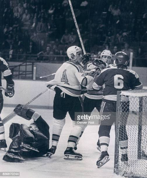 Denver Spurs Twoonone Situation Ain't Fair Denver Spurs George Tower and Gordon Buynak take on Salt Lake's Ted McAneeley in Friday night hockey fuss...