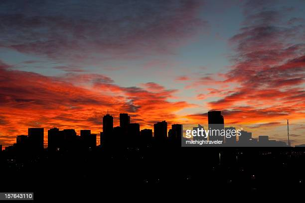 Denver sunrise skyline horizontal, Colorado