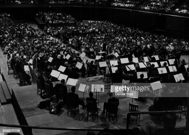 Denver Symphony Orchestra Mothers Join Children At Concert Friday for the first time Denver mothers joined youngsters at a Children's Concert given...