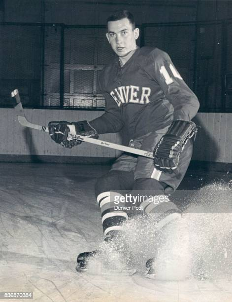 Denver Univ * Ice Hockey 5p Junior right wing Cliff Koroll a contender for WCHA and AllAmerica honors this coming season will lead the Pioneer...