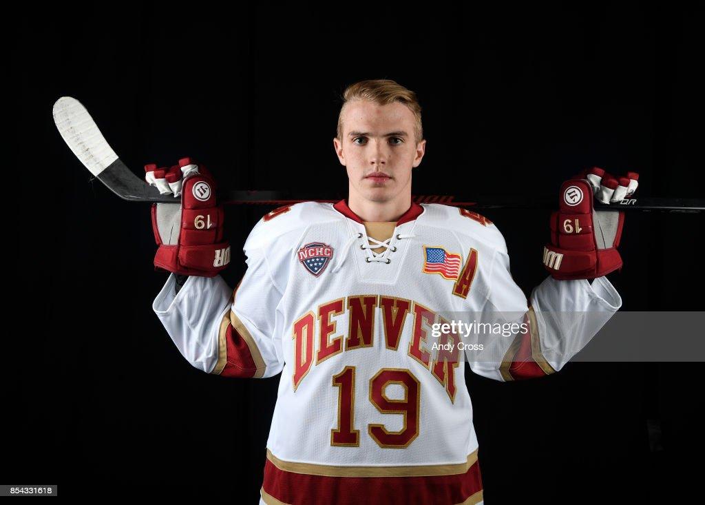 Denver University forward Troy Terry September 26, 2017.