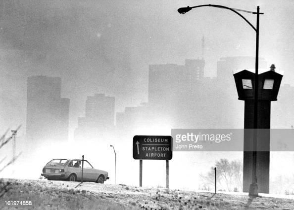 NOV 25 1981 Denver's Brown Cloud Obscures Skyline Denver's pollution index Tuesday ranged from poor to extremely poor as graphically illustrated by...