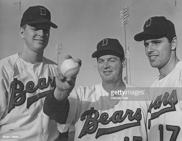 Denver's Bullpen Crew w/story Fowler the old head gives pointers to young hurlers Denver Bears Relief Corps No Longer Question Mark Old hand Art...