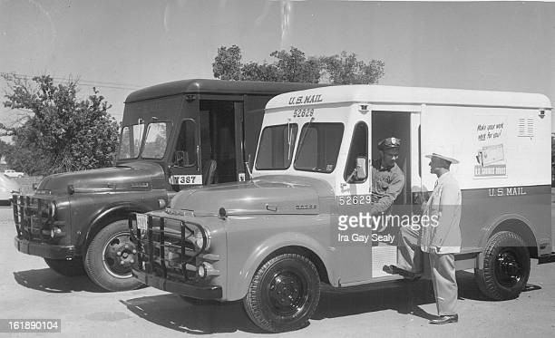 JUN 7 1954 JUN 9 1954 Denver's first nonolive drab mail truck Wednesday was given its first public preview The new redwhiteandblue jobs were recently...