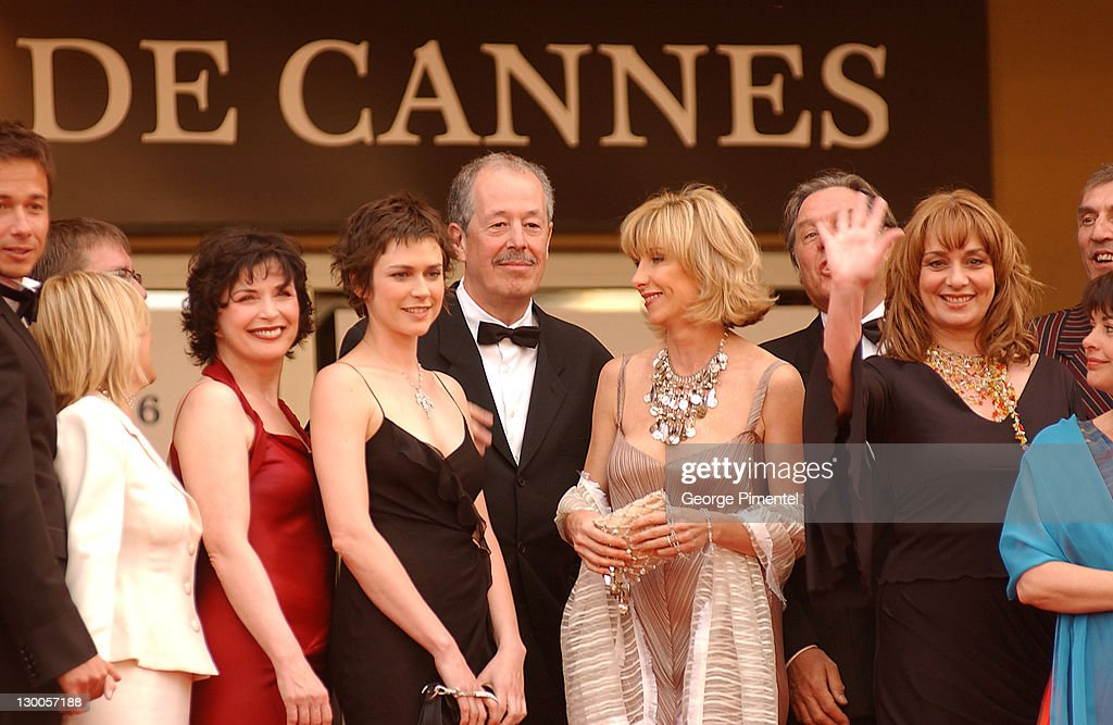 <a gi-track='captionPersonalityLinkClicked' href=/galleries/search?phrase=Denys+Arcand&family=editorial&specificpeople=240290 ng-click='$event.stopPropagation()'>Denys Arcand</a> and Cast during 2003 Cannes Film Festival - The Barbarian Invasions Premiere at Palais des Festivals in Cannes, France.