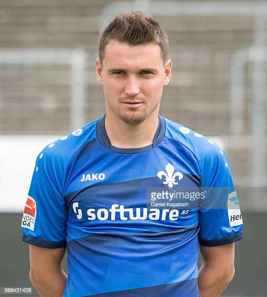 Denys Oliinyk poses during the Darmstadt 98 Team Presentation on August 11 2016 in Darmstadt Germany
