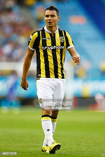 Denys Oliynyk of Vitesse looks on during the UEFA Europa League third qualifying Round 2nd Leg match between Vitesse Arnhem and Southampton FC held...
