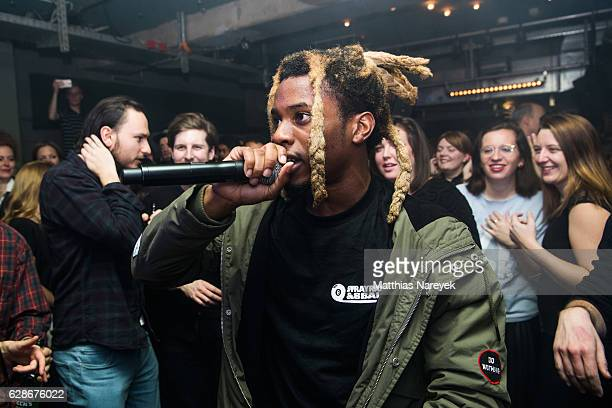 Denzel Curry performs during the SoundCloud Go Launch Party In Berlin at Prince Charles on December 8 2016 in Berlin Germany