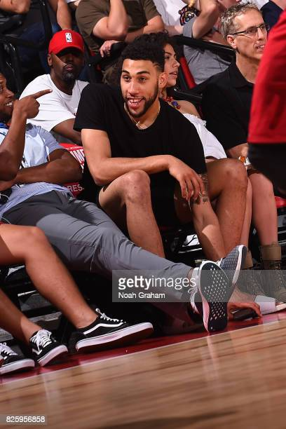 Denzel Valentine of the Chicago Bulls attends the 2017 Las Vegas Summer League game between the Miami Heat and the Dallas Mavericks on July 11 2017...