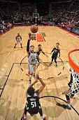 Denzel Valentine of the Chicago Bulls goes to the basket against the Minnesota Timberwolves during the 2016 NBA Las Vegas Summer League on July 18...
