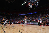 Denzel Valentine of the Chicago Bulls hits a three pointer to tie the game and send it to overtime against the Minnesota Timberwolves during the 2016...