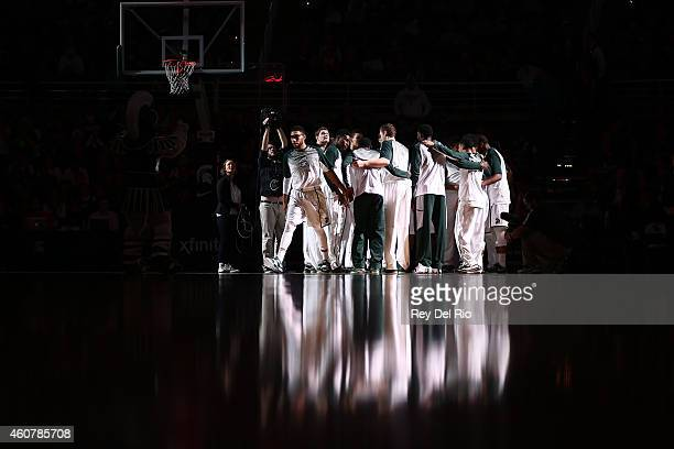 Denzel Valentine of the Michigan State Spartans prior to the game against the Citadel Bulldogs at the Breslin Center on December 22 2014 in East...