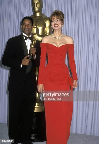 Denzel Washington and Geena Davis