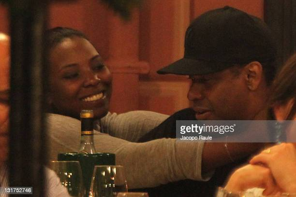 Denzel Washington and his daughter are seen on July 12 2010 in Portofino Italy