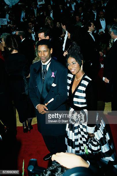 Denzel Washington and his wife Pauletta attend the 65th Academy Awards in Los Angeles Washington is nominated for Best Actor for his leading role in...
