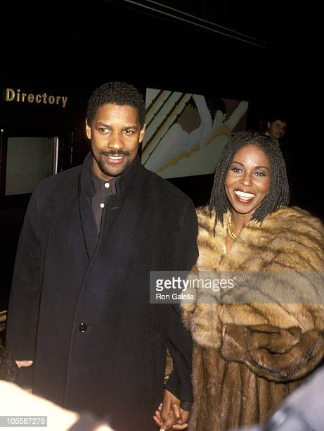 Denzel Washington and Pauletta Washington during 58th Annual New York Film Critics Circle Awards at Rainbow Room at Rockefeller Center in New York...