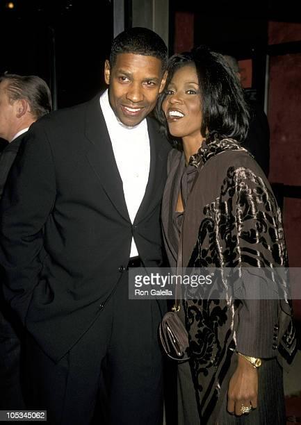 Denzel Washington and Pauletta Washington during 'The Preacher's Wife' New York City Premiere at Ziegfeld Theater in New York City New York United...