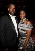 NEW YORK JUNE 13 Denzel Washington and Pauletta Washington in the audience at the 64th Annual Tony Awards at Radio City Music Hall on June 13 2010 in...