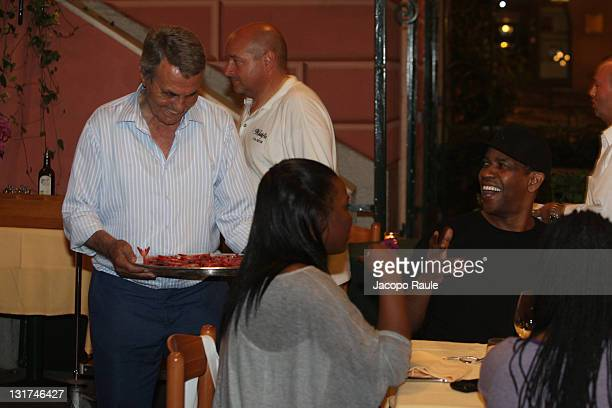 Denzel Washington and Puny are seen on July 12 2010 in Portofino Italy