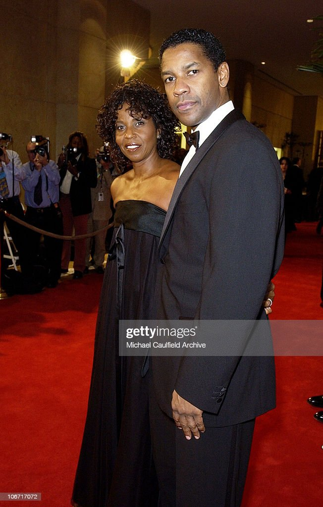 Denzel Washington and wife Pauletta during The 17th Annual American Cinematheque Award Honoring Denzel Washington at Beverly Hilton Hotel in Beverly Hills, California, United States.